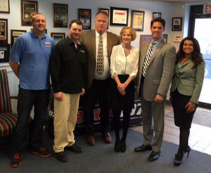 Picture of O'Donnell Legal Team and Members of Rock 107