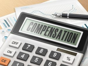 Picture of compensation calculator with graph