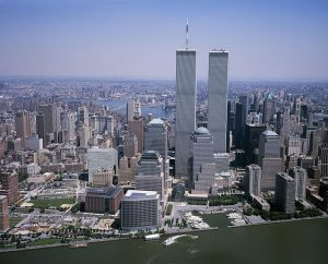 Picture of the Twin Towers in NYC