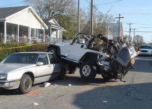 Picture of a Pennsylvania car accident involving a Jeep