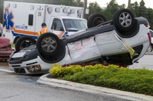 Picture of rollover car accident