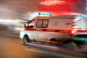 Picture of ambulance answering an emergency call