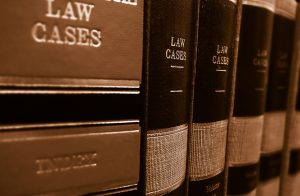 Picture of books about law cases