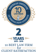 Picture of American Institute of Personal Injury Attorneys 2 years (2015-2016) logo