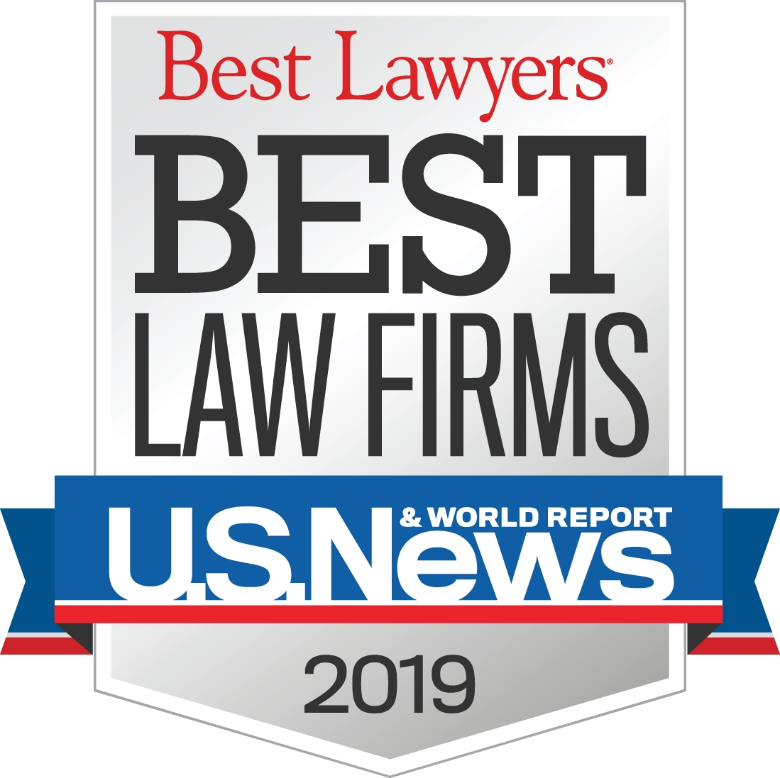 Picture of 2019 U.S. News Best Law Firms logo