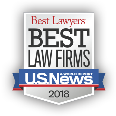 Picture of 2018 U.S. News Best Law Firms logo